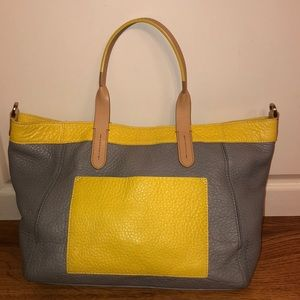 Cole Haan yellow pocket handbag